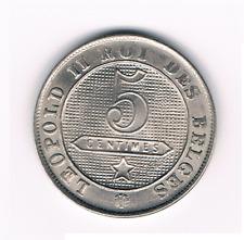 5 Centimes  1898Fr   Leopold II   Belgium/Belgie/Belgique     Morrin 248    UNC