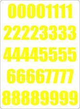 Set 40x autocollant sticker porte voiture moto numero nombre chiffre course jaun