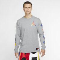 Nike Air Jordan DNA Logo Tee Mens T-Shirt Grey Multi Size Casual Sportswear Top