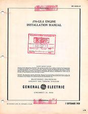 J79-GE-2 Aircraft Engine Installation Manual 1958 GE Issued Flight Manual  -  CD