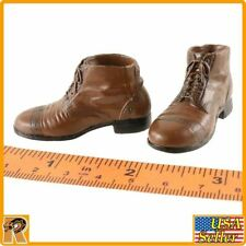 V1017 - Brown Boots (for Pegs) - 1/6 Scale - Vortoys Action Figures