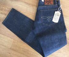 Ralph Lauren RRL bajo rígido recto Blue Jeans 29/30 RRP £ 245