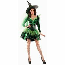 Party King Women's Wicked Emerald Witch Costume, Green/Black, Large