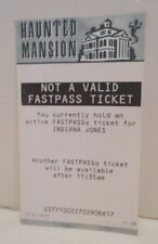 DISNEY DISNEYLAND NOT A VALID FASTPASS FAST PASS HAUNTED MANSION RIDE ATTRACTION