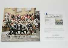 MUMFORD & SONS BAND SIGNED 'BABEL' ALBUM VINYL RECORD BECKETT BAS COA AND MARCUS