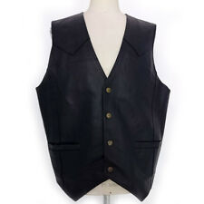 GILET VINTAGE UOMO IN VERA PELLE MAN'S WORLD ART.6174