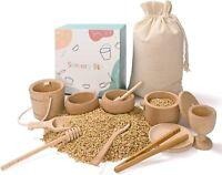 Montessori Educational Wooden Sensory Stone Balancing Toy for Toddler/Kids
