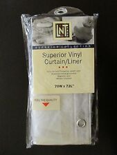 SUPERIOR VINYL CURTAIN/LINER-LINENS 'N' THINGS - Size is 70W x 72L - Brand New