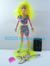 "Jem and the Holograms Hasbro 1986 12.5"" Doll Misfits Pizzazz w/ Cassette Tape"