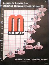 1962 Mundet Catalog 85% Magnesia ASBESTOS Air Cell Insulation Cement