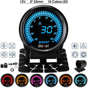 2'' -30~30 PSI LED Digital Car Auto Turbo Boost Pressure Gauge Meter W/ Sensor
