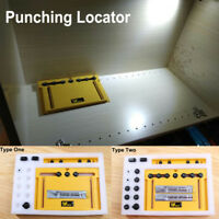Drill Guide Cabinet Door Installation Hole Locator Punching Opener with Cutter