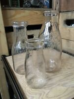 Vintage Quart Pint & Half Bottle Associated Milk Dealers AMD Detroit Michigan