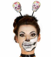 Halloween Sugar Skull Day Of The Dead Deely Boppers Headband Fascinator Skeleton
