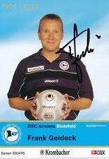 Frank Geideck   Arminia Bielefeld  Autogrammkarte  signiert 354074
