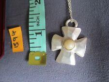 celtic cross pendant necklace silver colour chain in a box [ 1594 ]