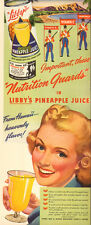 1942 vintage AD LIBBY'S CANNED PINEAPPLE JUICE fromHawaii  Pretty Art  (032519)