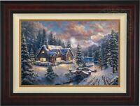 Thomas Kinkade Studios High Country Christmas 18 x 27 LE G/P Canvas (Burl Frame)