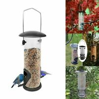 Automatic Hanging Wild Bird Feeder Seed Container Hanger Feed Garden Outdoor