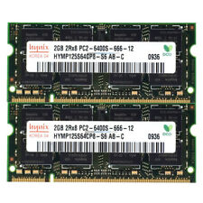 Hynix RAM SO DIMM DDR2 PC2 4GB (2GBx2) 6400S 200Pin 800Mhz Speicher Laptop [127]