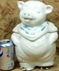 vintage 11' high cream SHAWNEE pottery PIG cookie jar -no chips but paint loss