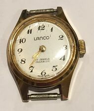 Quality Vintage Ladies Gold Fronted LANCÔ  wristwatch With New Strap.