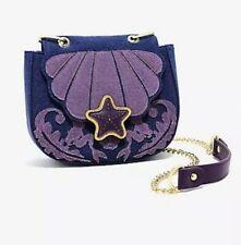 Disney Loungefly The Little Mermaid Ariel Denim Saddle Bag Purse NEW NWT