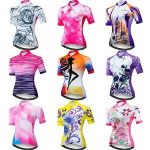 Ladies Cycle Jersey Top with Reflective Zip Pocket Women's Cycling Jersey S-5XL