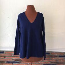 Vince Navy Blue V Neck Oversized Cashmere Sweater Size M