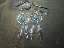 WHOLESALE LOT Of 10 Pair 925 Sterling Silver Small Dreamcatcher Dangle Earrings