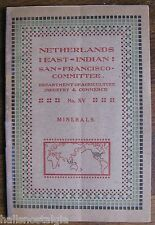 1914 Booklet Mining in Netherlands-East India w/photos of mining areas & charts