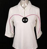 Bnwt Women's Oakley Stretch Hacker Golf Polo Shirt Blouse Small UK10 White New
