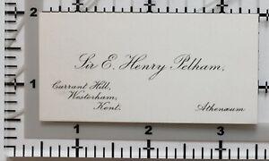 Antik Calling Card Herr E Henry Pelham Johannisbeere Hill Westerham Kent