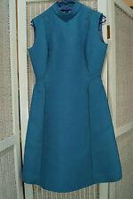 """PETITE FRANÇAISE Vintage 1960s Ice Blue Dress 34-35"""" Bust, 36"""" Hips Betty Draper"""
