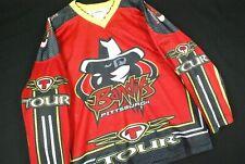 Pittsburgh Bandits Hockey Jersey Mens Medium Red Minor League Tour Hip Hop Rap