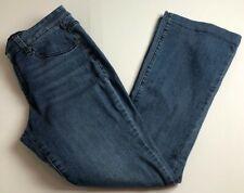 Earl Jean Women's Flare Jeans Sz 8 Blue Medium Wash Zip Up 5 Pockets Stretch