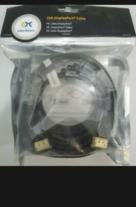 Display Port Cable 25ft Male to Male DP 2k Ready