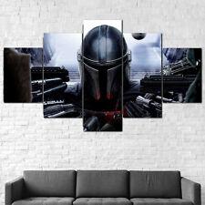 The Mandalorian Star Wars Disney Canvas Print Framed 5 Pcs Wall Art Poster Decor