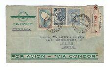 Argentina 1937 registered cover to Austria VIA CONDOR