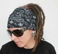 Black Bandana DreadHeadband/dread sock/wrap - Lightweight, soft, comfortable