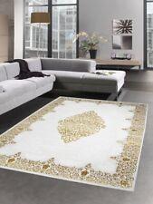 Modern carpet wool rug living room carpet ornaments cream gold Dywan