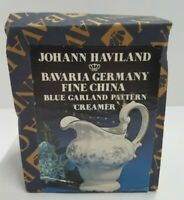 Vintage NEW in Box Johann Haviland Bavaria Germany Blue Garland Creamer Pitcher