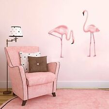 Pink Flamingo Wall Decal Girls KIds Bedroom Removable Murals Sticker Home Decor