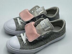 Converse Chuck Taylor AllStar MADDIE OX Grey Pink 662122F Girls Size 3Y Youth