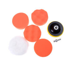 "7Pcs 4"" Buffing Pad Auto Car Polishing Wheel Kit Buffer + Drill Adapter Tb"