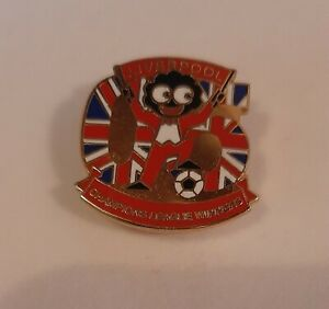 Vintage Brooch Badge Black Doll Liverpool Soccer League Collectable Rare