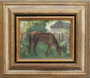 BEAUTIFUL ANTIQUE RUSSIAN OIL PAINTING, LISTED