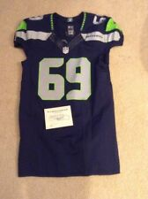 Seattle Seahawks Terry Poole Game Used Team Issued Blue Home Jersey 2015