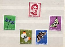 Suiza Pro Juventud Mariposas e Insectos serie año 1951 (DS-147)