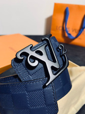 Louis Vuitton LV REVERSIBLE BELT with Black/Blue Buckle Luxury ✅Fast Delivery✅